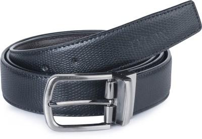 Stylox Men Casual Black Synthetic Reversible Belt