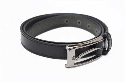 Crapgoos Men Casual Black Genuine Leather Belt