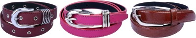 Contra Girls Tan, Pink, Red Artificial Leather Belt