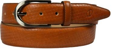 James Aston Men Formal Tan Genuine Leather Belt