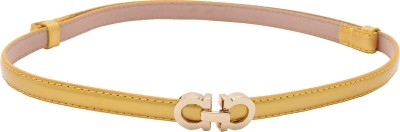 Naitik Products Women Casual Yellow, Yellow Genuine Leather Belt