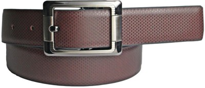 LEE O Men Formal Brown Artificial Leather Reversible Belt
