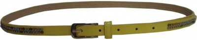 SABAGS Girls Yellow Artificial Leather Belt