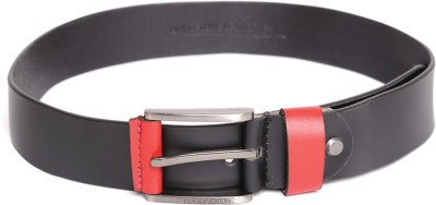 Harvard Men Black Genuine Leather Belt