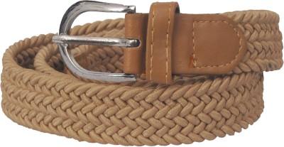Fogg Fashion Store Girls, Women Casual Brown Fabric Reversible Belt