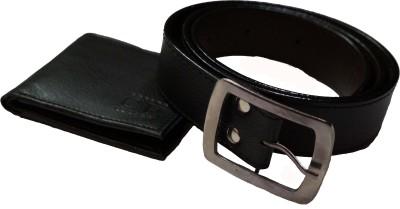 SRT Men Black Artificial Leather Belt