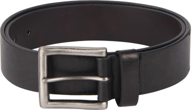 Kaizu Men Casual Black Genuine Leather Belt