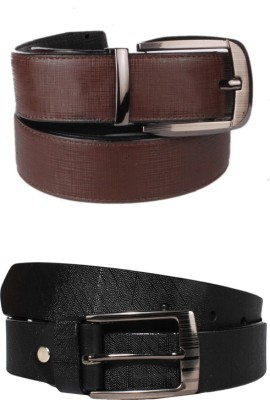 Lenin Men Casual Black Genuine Leather Belt
