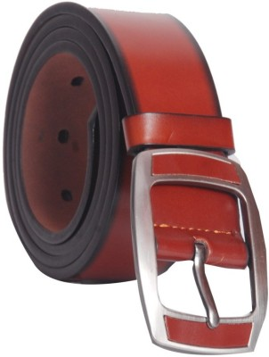 Oril Men Casual Brown Artificial Leather Belt