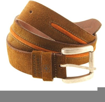 Swiss Military Men Brown Genuine Leather Belt
