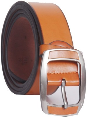 Oril Men Casual Orange Artificial Leather Belt