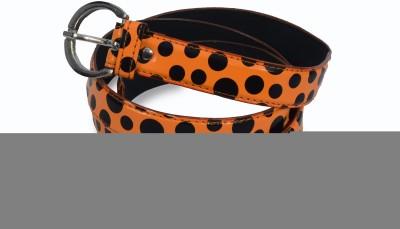 VICTORIA SECRET INDIA Women Casual, Party Orange, Black Artificial Leather Belt