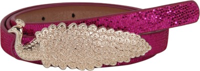 Aadi And Sons Women Party Pink Artificial Leather Belt