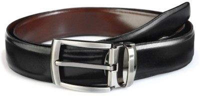 Bellina Men, Boys Party, Casual, Formal, Evening Black Artificial Leather Reversible Belt