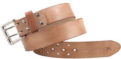 Kangoo Men Casual Beige Genuine Leather Belt