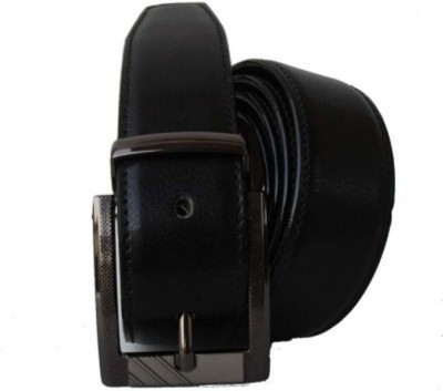 Ruchiworld Men Casual Black Genuine Leather, Artificial Leather Belt