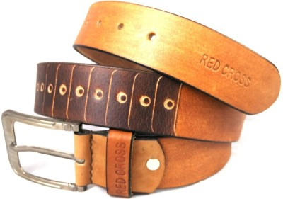 REDCROSS Men Brown Genuine Leather Belt