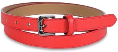 Aadaana Casual Red Artificial Leather Belt