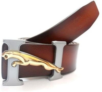 JK Import Men Brown Genuine Leather Belt