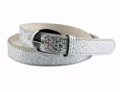 Modishera Women, Girls Casual, Party Silver Artificial Leather Belt