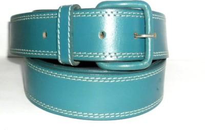 Troyfashion Men Blue Genuine Leather Belt