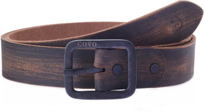 Covo Men Casual Black Genuine Leather Belt