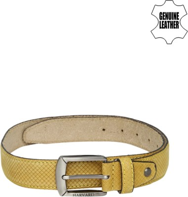 Harvard Men Yellow Genuine Leather Belt
