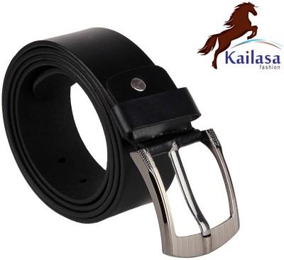 Kailasa Men Formal Black Artificial Leather Belt