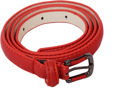 SRI Women Casual Red Artificial Leather Belt