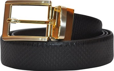 Hide Bulls Men Black Genuine Leather Reversible Belt