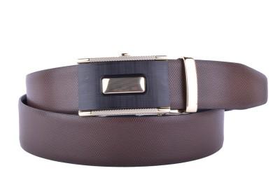 CALLESTO Men Formal Brown Genuine Leather Reversible Belt