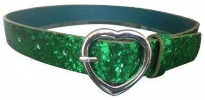 NeedyBee Girls Casual Green Artificial Leather Belt