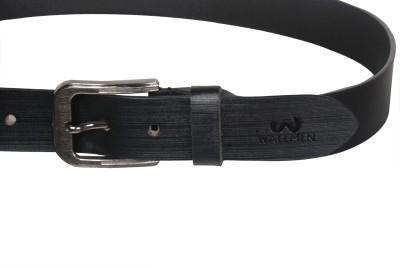 Wallmen Boys, Men Casual, Party Black Genuine Leather Belt