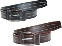 Winsome Deal Men Formal, Casual Black, Brown Artificial Leather Belt best price on Flipkart @ Rs. 364