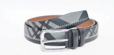 Crux&Hunter Men Casual Grey Artificial Leather Belt