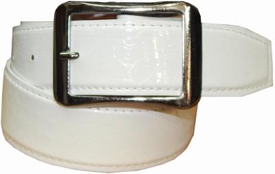 Ansari Men Casual White Canvas Belt