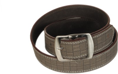 Bs Spy Men Casual Brown Artificial Leather Belt