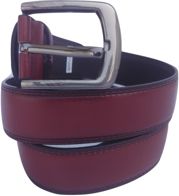 Bluck Boys, Men Maroon Genuine Leather Belt