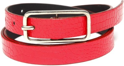 TOBO Women Casual Red Synthetic Belt