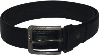 Gen Men Casual Black Artificial Leather Belt