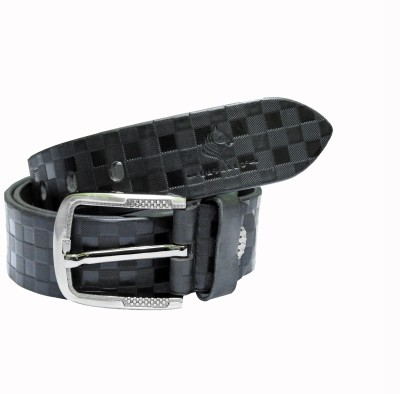 Cavallo Men Casual, Evening, Party Black Genuine Leather Belt