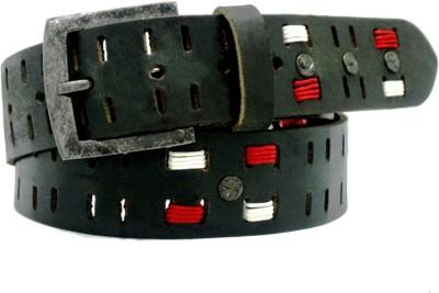 LaPalma Boys, Girls Casual Black Genuine Leather Belt