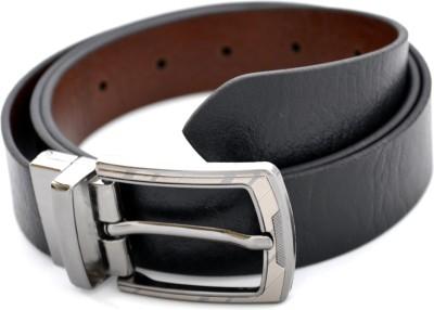 Urban Diseno Men Casual Black, Brown Genuine Leather Reversible Belt