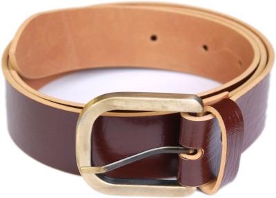 sankalp Men Casual Brown Genuine Leather Belt