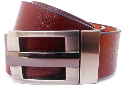 Wholesomdeal Men Formal Tan Artificial Leather Belt