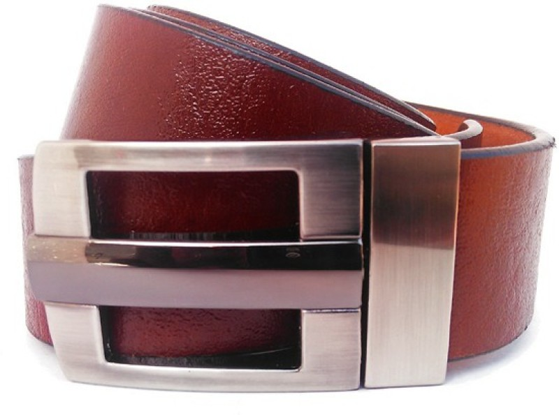 Wholesome Deal Men Formal Tan Artificial Leather Belt
