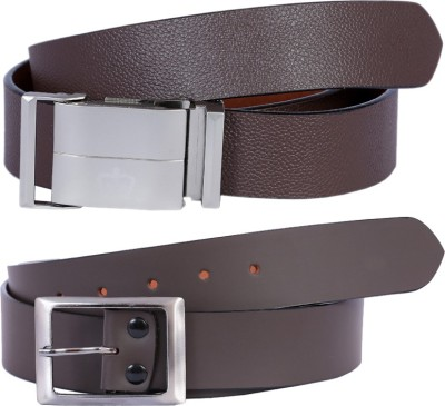 Kritika Men Brown Genuine Leather Belt