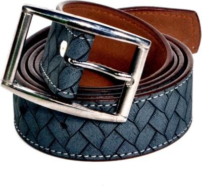 D Jindals Men Casual Grey Genuine Leather Belt