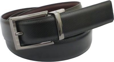 ABHINAVS Men Formal Brown Genuine Leather Reversible Belt
