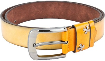 Swiss Design Men Casual Yellow Genuine Leather Belt